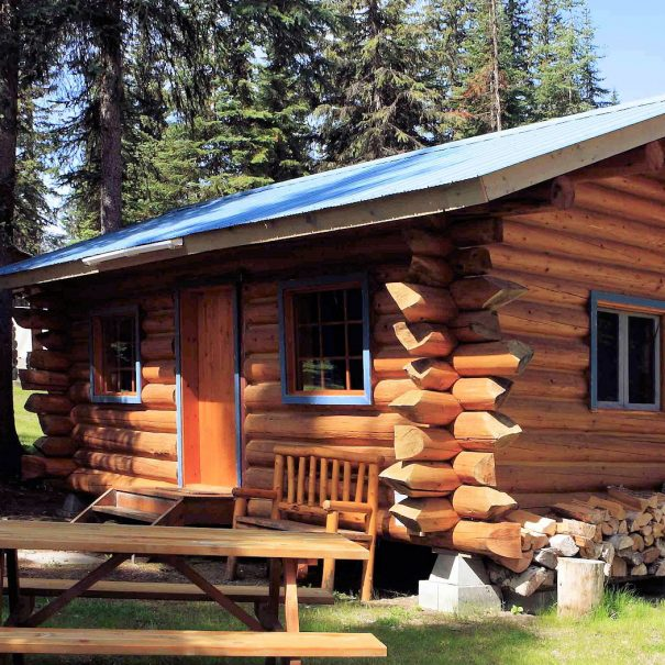 Trapper Cabin at Becker's Lodge, Bowron Lake, BC