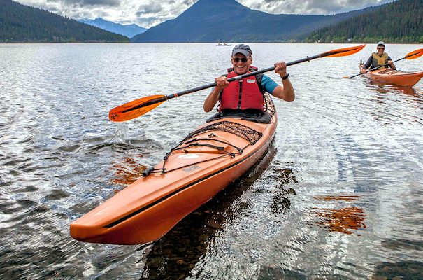 Kayak rentals at Beckers Lodge Bowron Lake
