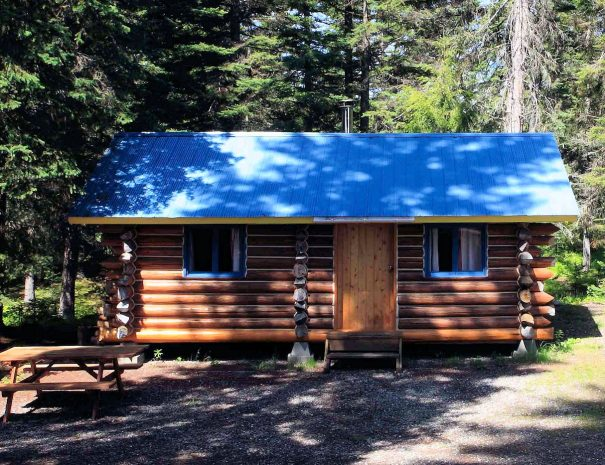 One of five Trapper Cabins, Becker's Lodge, Bowron Lake, BC