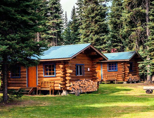 Cabins at our all season resort on Bowron Lake, BC