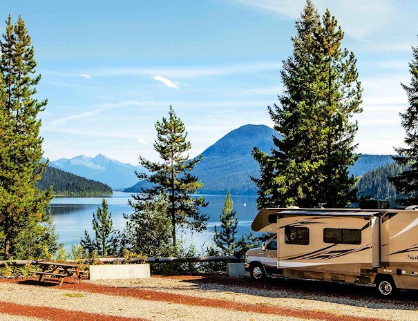 RV Sites at our resort on Bowron Lake