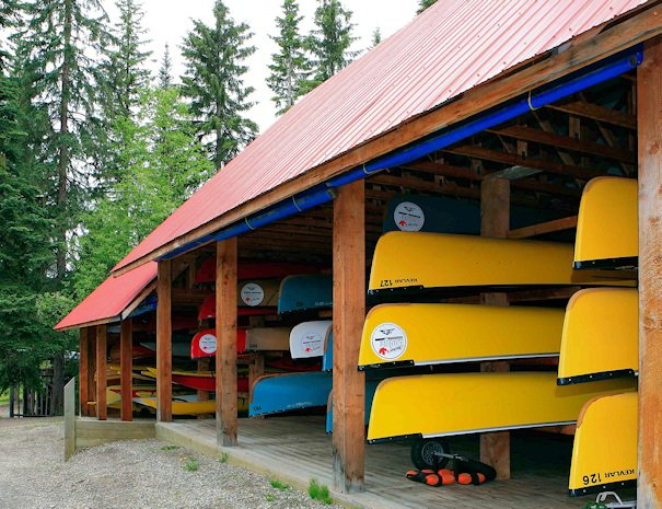 Canoe rentals at Bowron Lake, BC