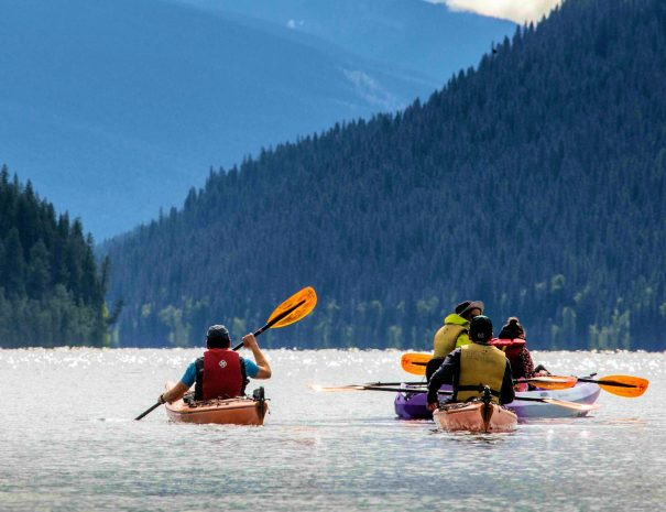 Kayak rentals at Bowron Lake, BC