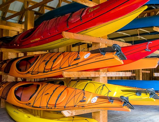 canoes & kayaks, Becker's Lodge, Bowron Lake, BC