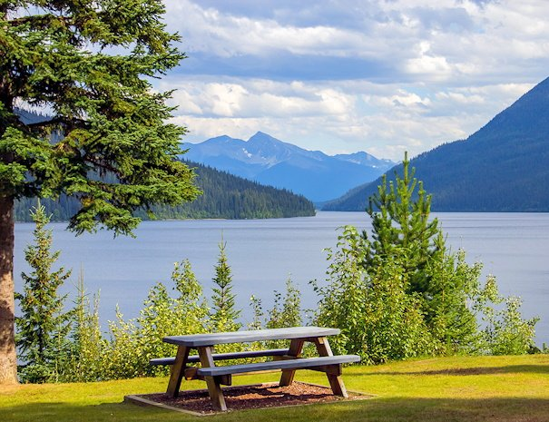 View from Becker's Lodge Bowron Lake