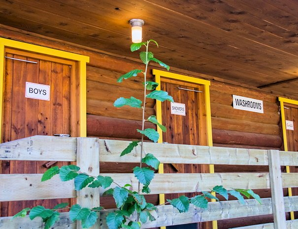 washhouse at campground