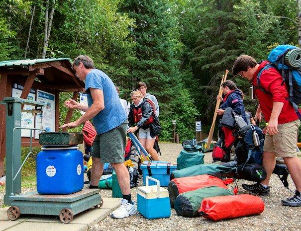 Preparing to paddle the Bowron Lake Full Circuit Package