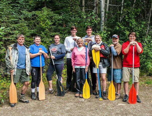family on Bowron Lake Full Circuit Package