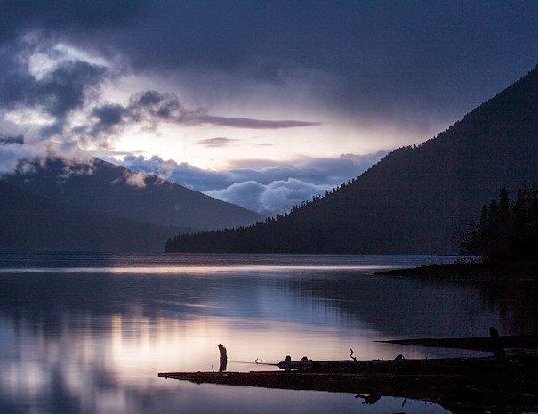 night sky on Bowron Lake