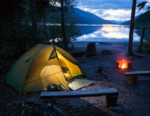 tenting on Bowron Lake Full Circuit Package