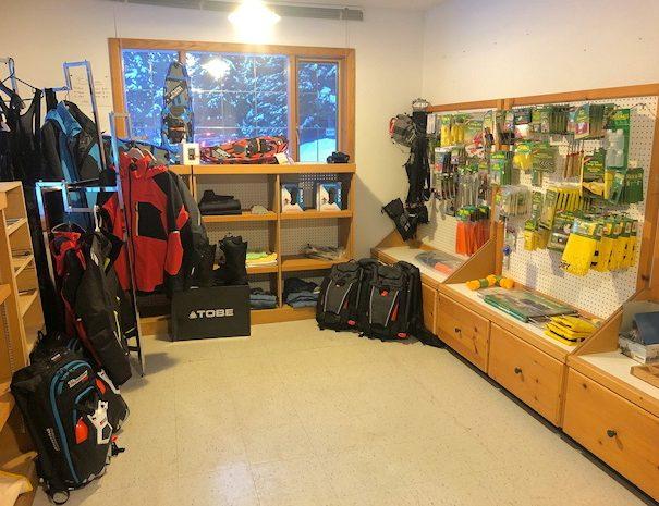 snowshoeing winter adventures at Becker's Lodge, Bowron Lake, BC