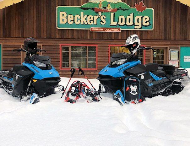 winter adventures at Becker's Lodge, Bowron Lake, BC