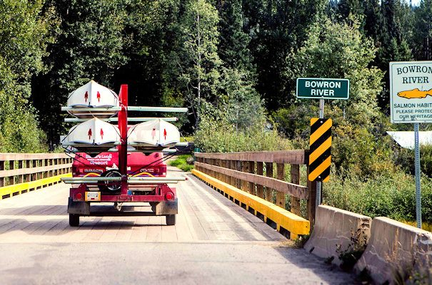 transporting to Bowron Lake Canoe Circuit