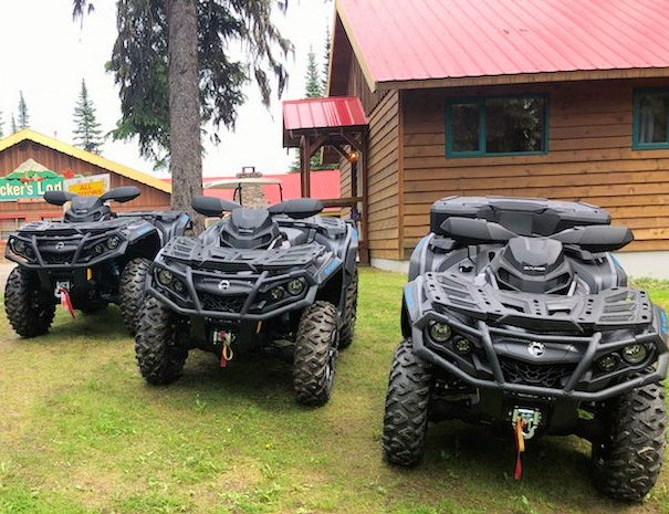 ATV at Becker's Lodge, Bowron Lake, BC