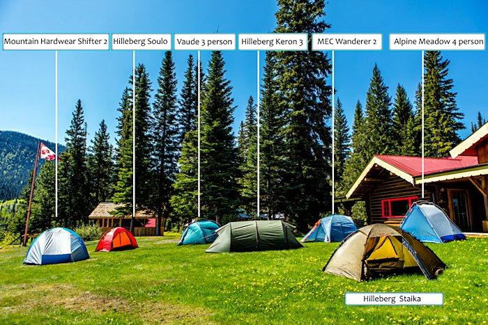 Tent Rentals at Bowron Lake